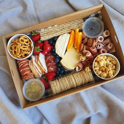 A selection of regionally sourced cheese and charcuterie for our grazing box